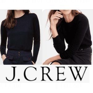 J. Crew Black Crewneck Merino Wool Sweater.